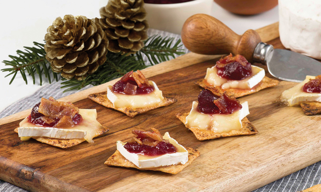Bacon, Baked Brie and Cranberry Party Melt Recipe