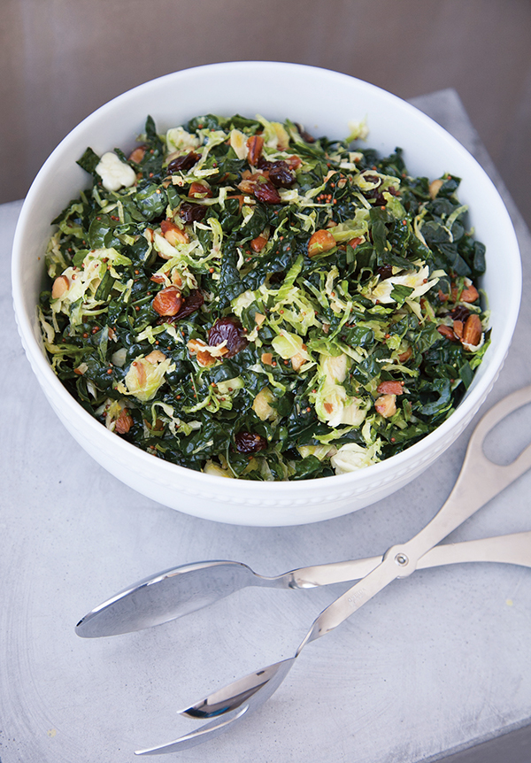Shaved Brussels Sprouts and Kale Salad Recipe, Ways to Curb Food Waste, storing food, Free Cooking and BBQ Magazine