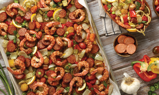 Seafood on Sheet Pan Image