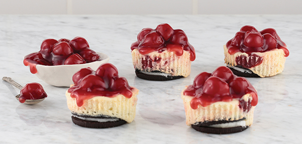 holiday baking mini marbled cheesecakes