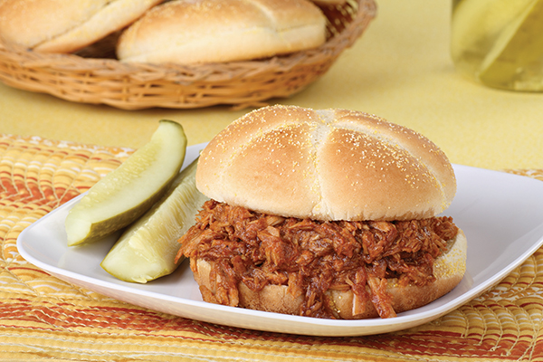 Smoked Pulled Pork Sandwiches with Honey Barbecue Sauce Image