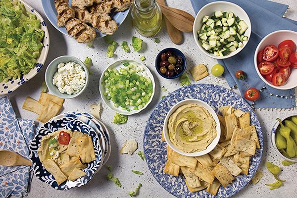 Mediterranean Nacho Bar Image With Recipe