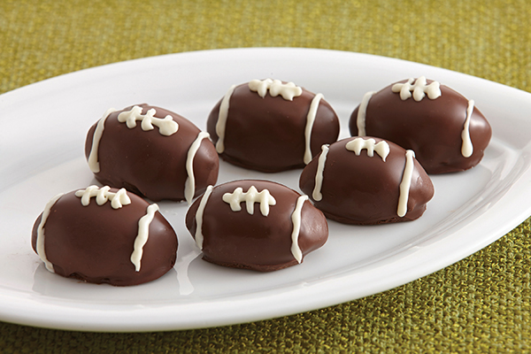 Chocolate Raspberry Football Cookie Truffles with Recipes