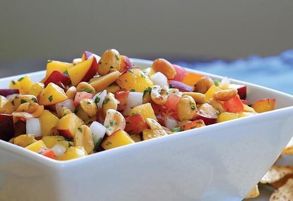 Peach Peanut Salsa