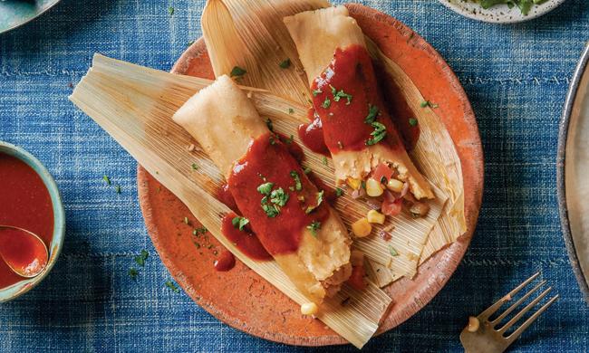 Zucchini and Corn Tamale Recipe, Free Cooking and BBQ Magazine
