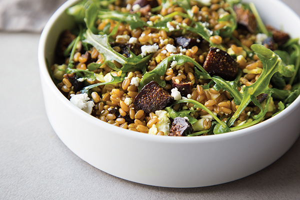 Farro and Fig Salad with Arugula and Feta