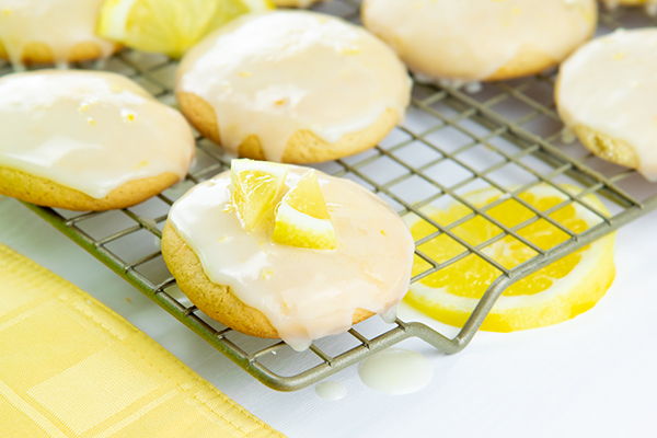 Glazed Lemon Cookies,summer recipes,recipes using citrus,Home Cooking and Comfort Food, Free Cooking and BBQ Magazine