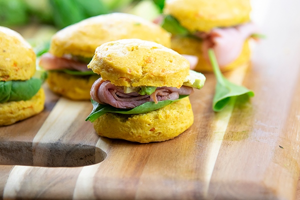 Mini Ham and Avocado Biscuit Sliders, Cooking, Recipes, Brunch, Free Cooking and BBQ Magazine
