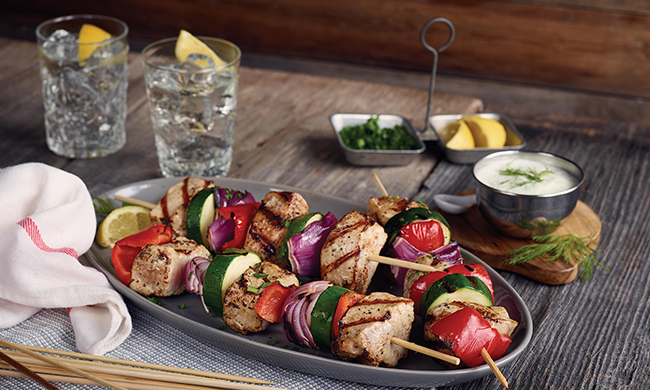 Grilled Pork Kebabs with Tzatziki Sauce Recipe