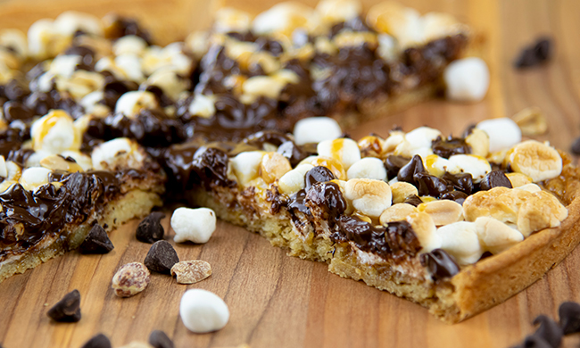 Rocky Road Cookie Dessert Pizza