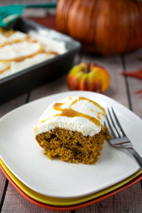 Pumpkin Caramel Spice Cake