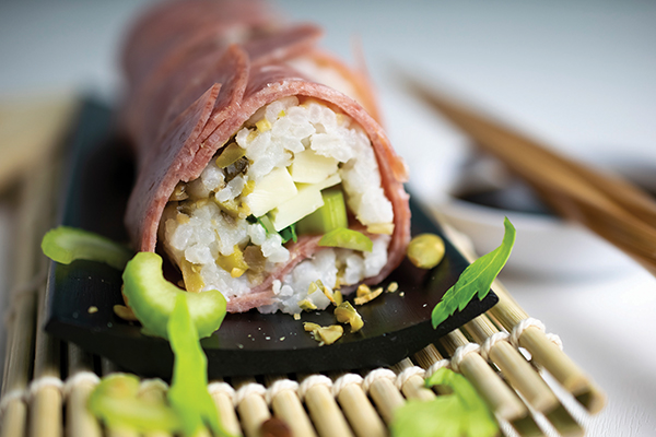 beefshi recipes,sushi recipes,trendy foodie recipes,sushi recipes using beef,cold dinner menu ideas, Free Cooking and BBQ Magazine