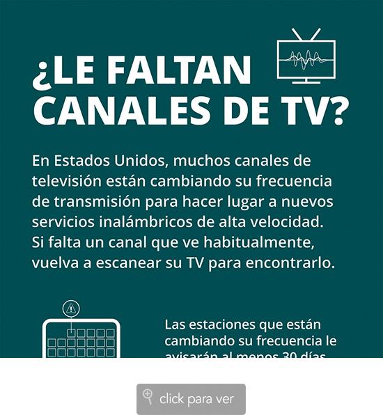 Cambios en algunas frecuencias de TV por aire