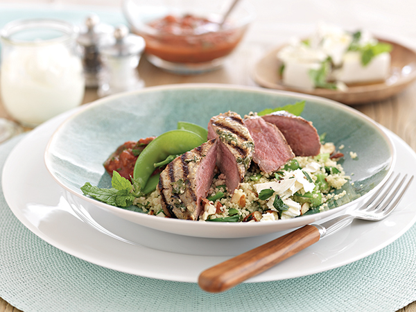New Zealand Grass-Fed Lamb Steaks with Yogurt and Cilantro Marinade Recipe, Free Cooking and BBQ Magazine