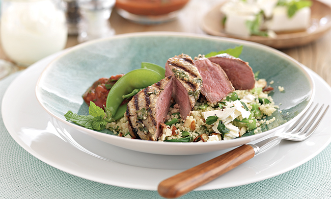 New Zealand Grass-Fed Lamb Steaks with Yogurt and Cilantro Marinade Recipe