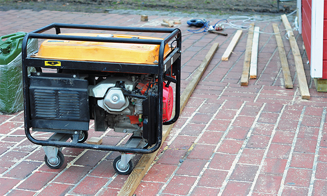 Keep Safe with portable generators and power tools