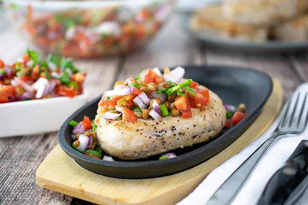Lentil Salsa Meal WOW