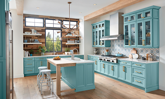 Kitchen Trends: Colorful Cabinets