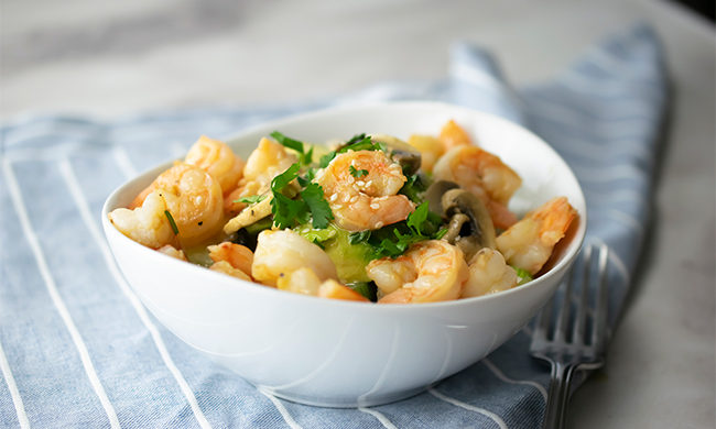 Shrimp Quiona Bowl