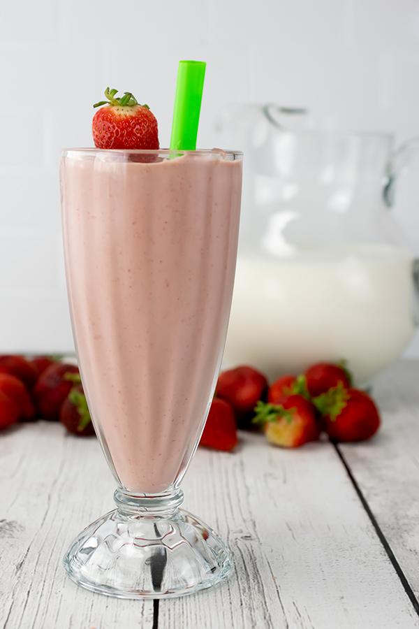 Chocolate Strawberry Smoothie.