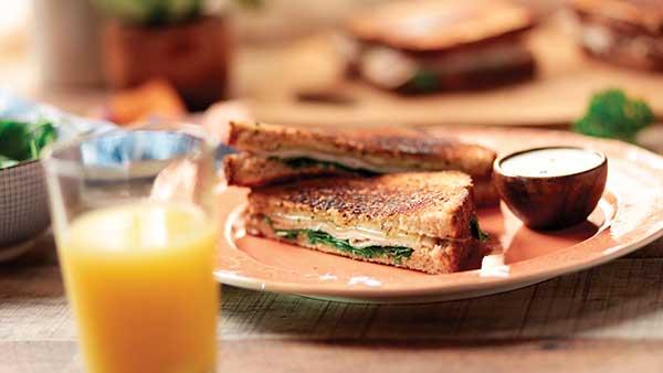 Grilled Turkey Club with Orange Juice-Infused Aioli