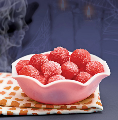 Frosted, Frozen Watermelon Balls Image